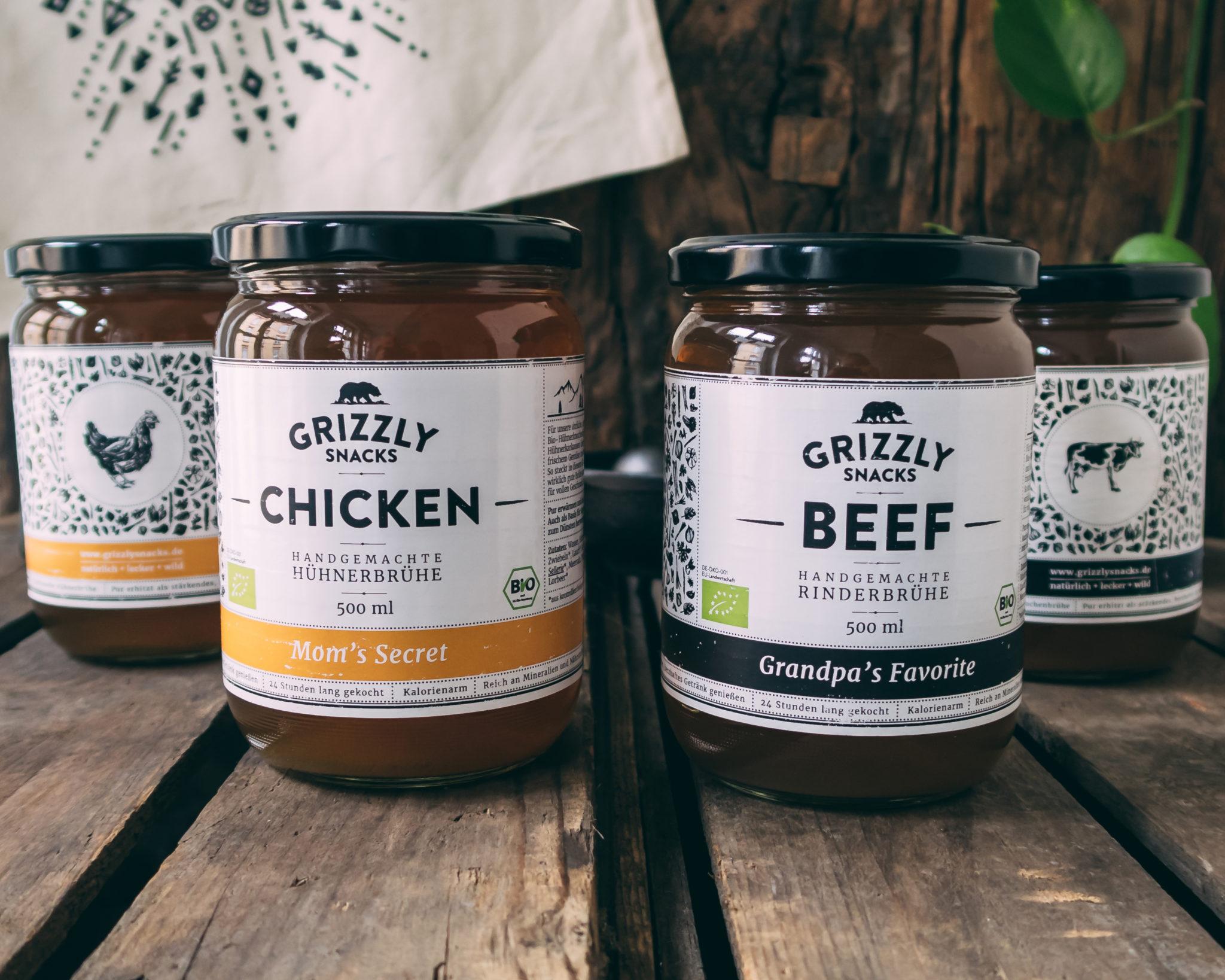 Kraftbrühen von Grizzly Foods – Brühen in Bio Qualität